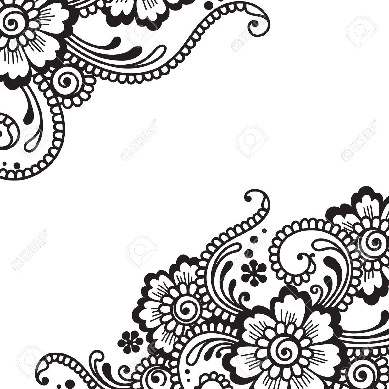 Flower Ornament Royalty Free Cliparts Vectors And Stock