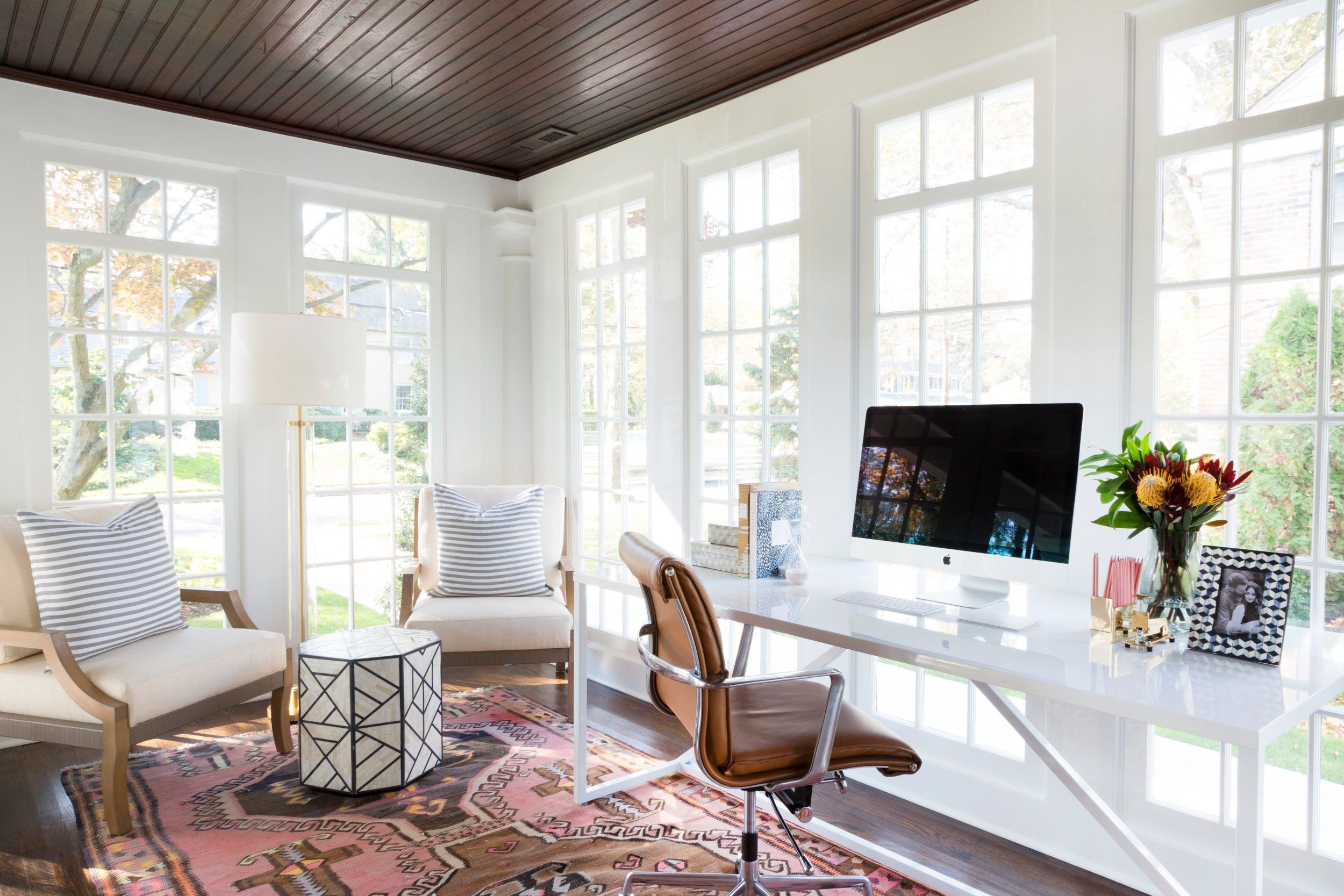 Haddonfield Project: Exterior + Sitting Room + Office | Sunroom ...