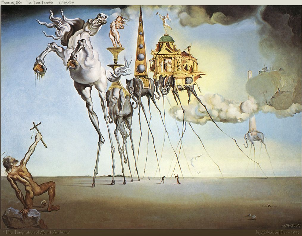 best dali world images surrealism salvador the temptation of st anthony salvador dali wikiart org