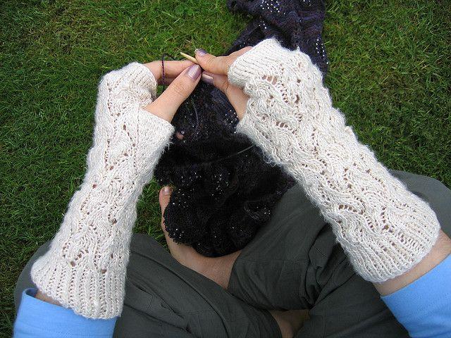 Whitewater Wrist Warmers Free Knitting Pattern By Jamjarring