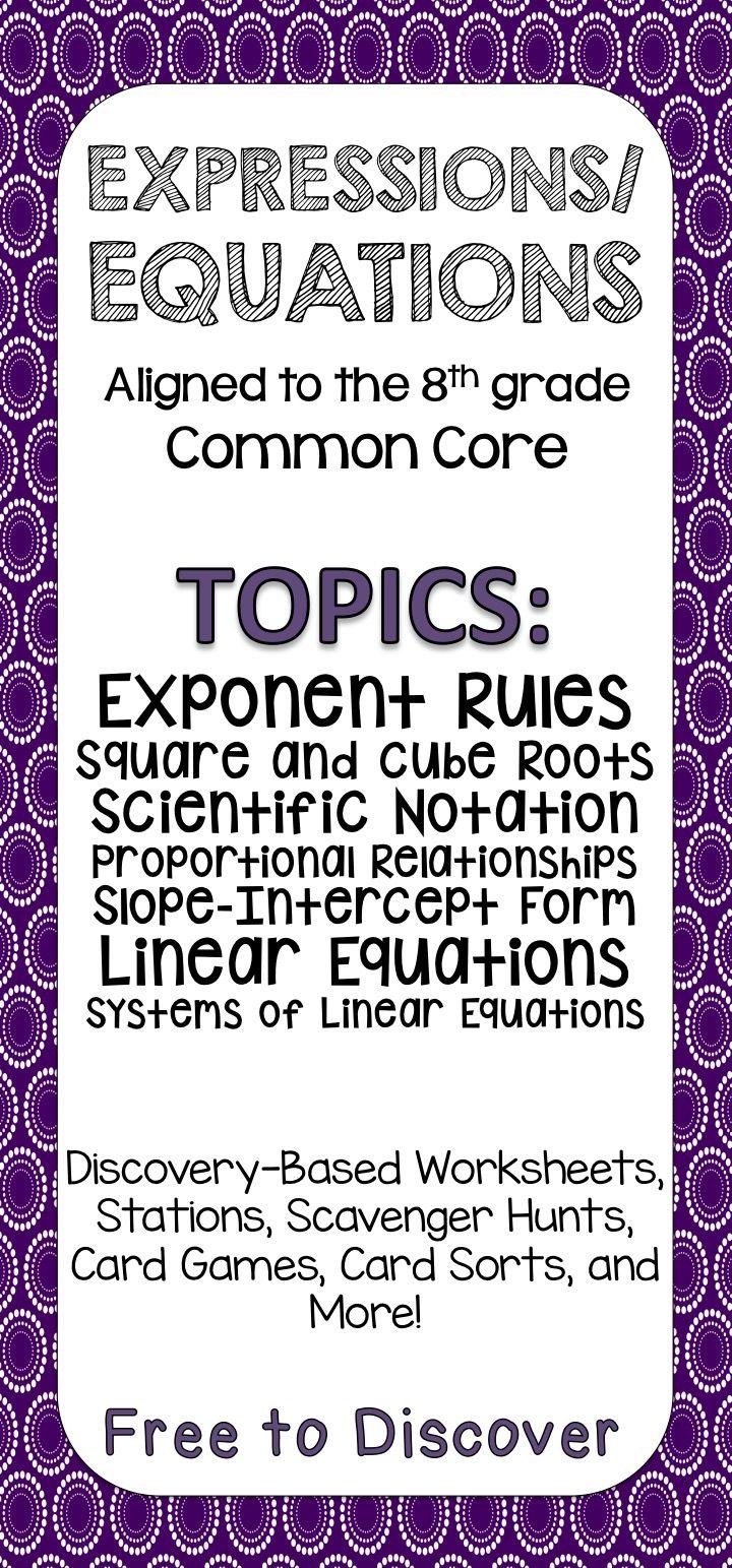 Common Core Slope Intercept Form Worksheet - Sewdarncute