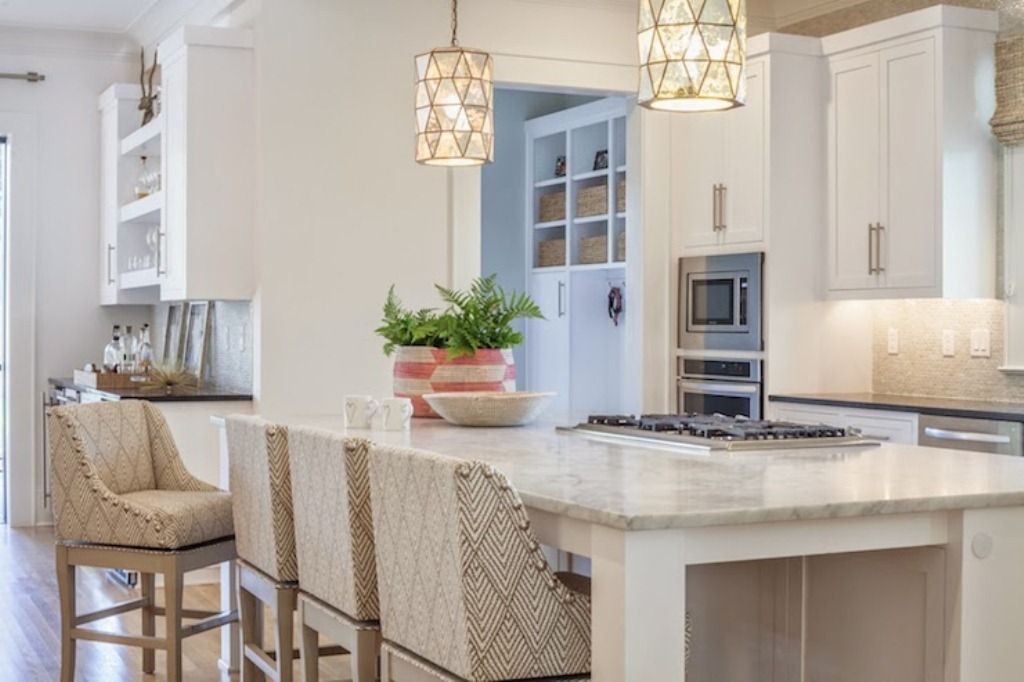 Brushed Nickel Pendant Light Over Kitchen Island Kitchen Pendant