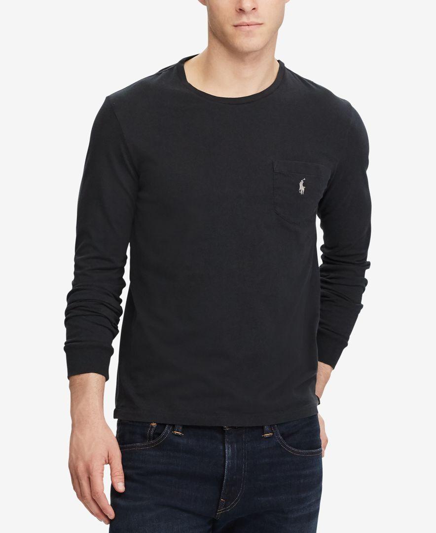 6e86fbc0f96e Polo Ralph Lauren Men s Custom Slim Fit Long-Sleeve T-Shirt ...