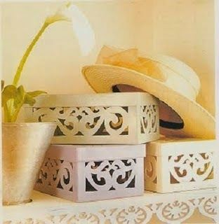 Empty Shoe Boxes Are A Wonderful Material To Make Useful And Beautiful Handicrafts For The House You Can Dress Them With Fabri Recycled Crafts Crafts Projects