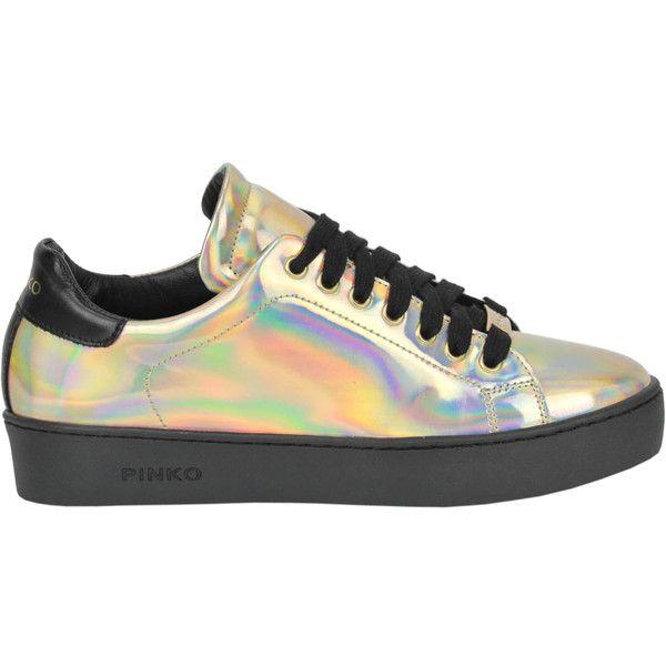 Pinko Meteorite Sneakers ($125) ❤ liked on Polyvore featuring shoes, sneakers, pinko shoes, round toe sneakers, round toe shoes, round cap and rubber sole shoes