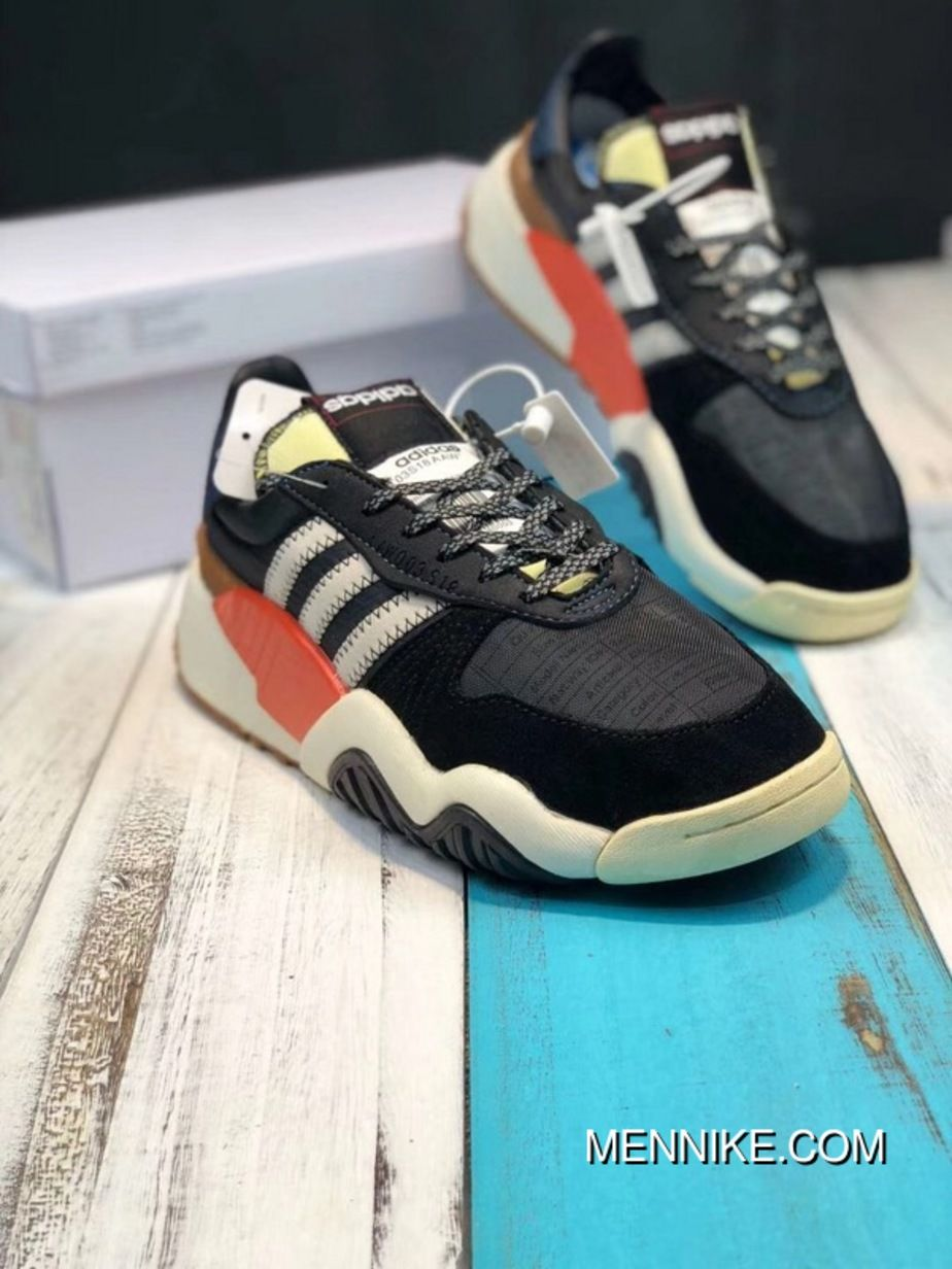 b36950e5f8b736 Adidas Alexander Wang AW Turnout Trainer AQ1237 Daddy Shoes Core Black    Chalk White   Bold Orange Free Shipping