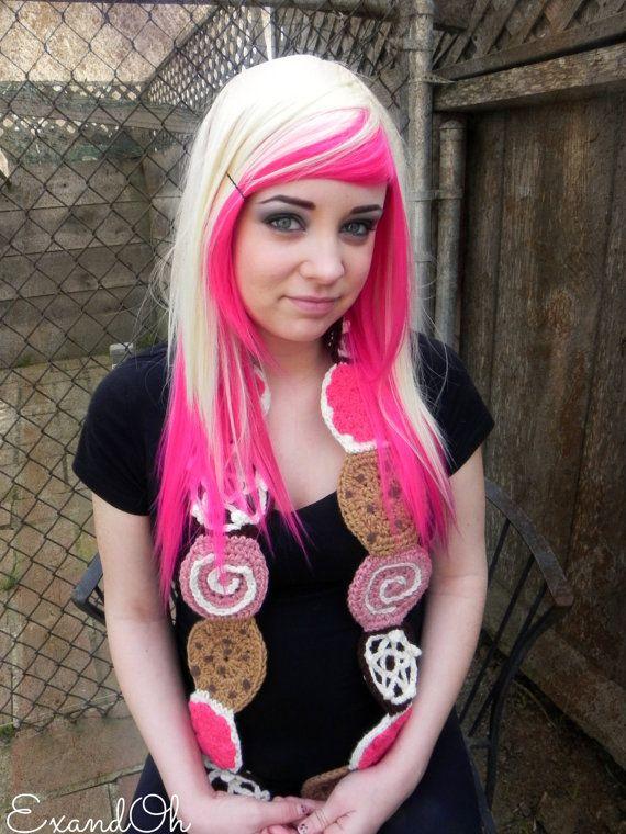 pink hair underneath blonde neon hot pink blonde long