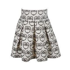 kit+lili - owl corduroy skirt / chocolate :  skirt different kit and lili onsie