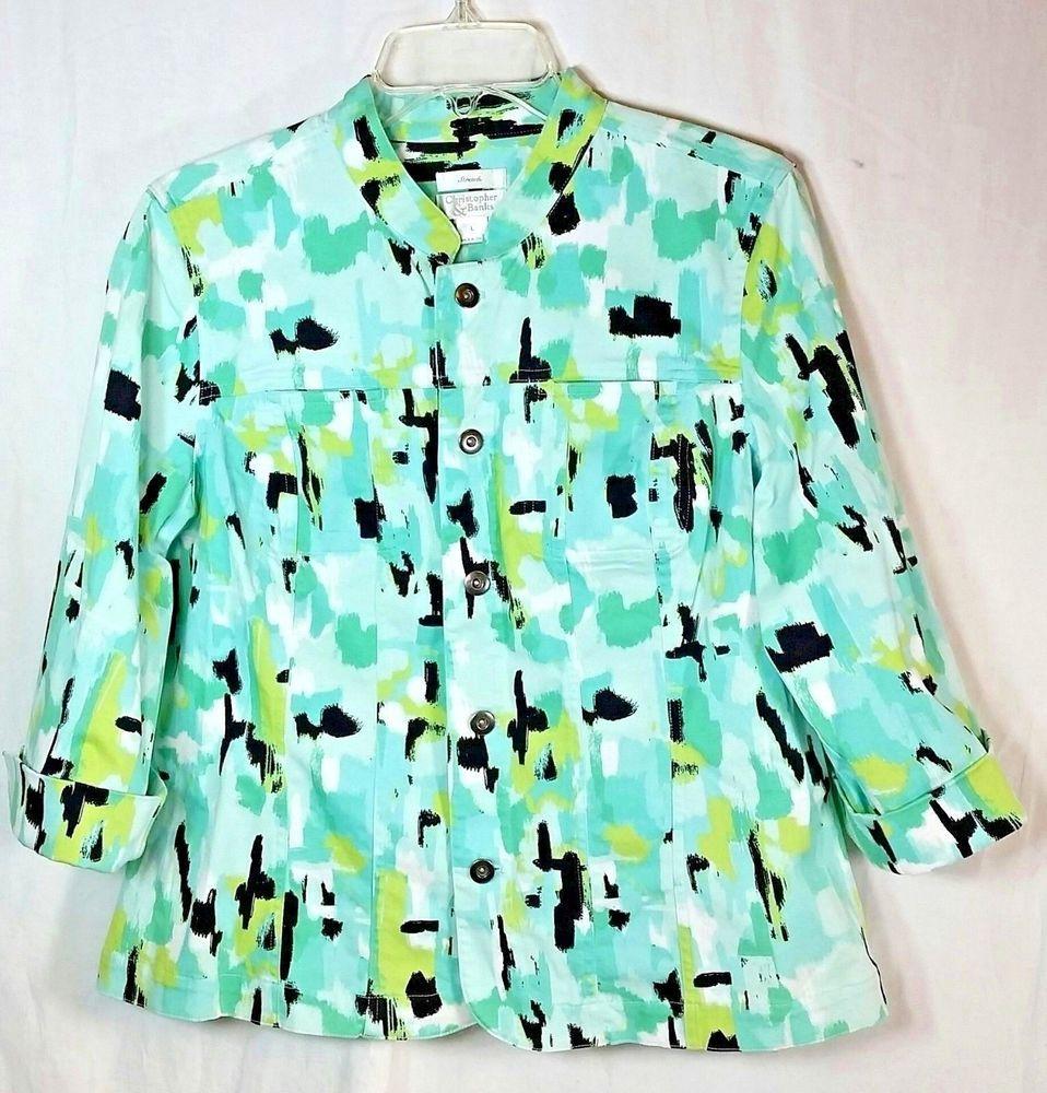 e7a07ad0e59 Christopher   Banks Womens Size Large Blazer Multi Color Career Jacket   ChristopherBanks  jacket  blazer  womensfashion  Casual  shopping  ebay