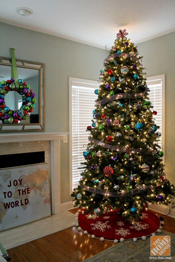 Christmas Tree Decorating Ideas The Home Depot Home Depot Christmas Decorations Christmas Trees In House Christmas Tree Home Depot