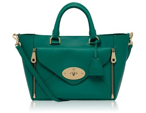 314bb902a975 Mulberry - Small Willow Tote in Emerald Silky Classic Calf