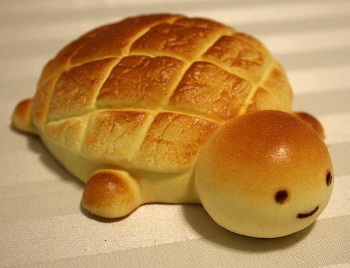 turtle bread! kkkk