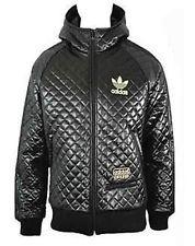 Black adidas leather jacket