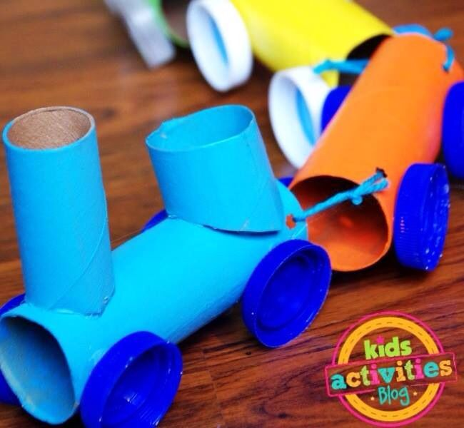 Crafts With Paper Towel Rolls For Preschoolers: Paper Towel Roll Train To Make With A
