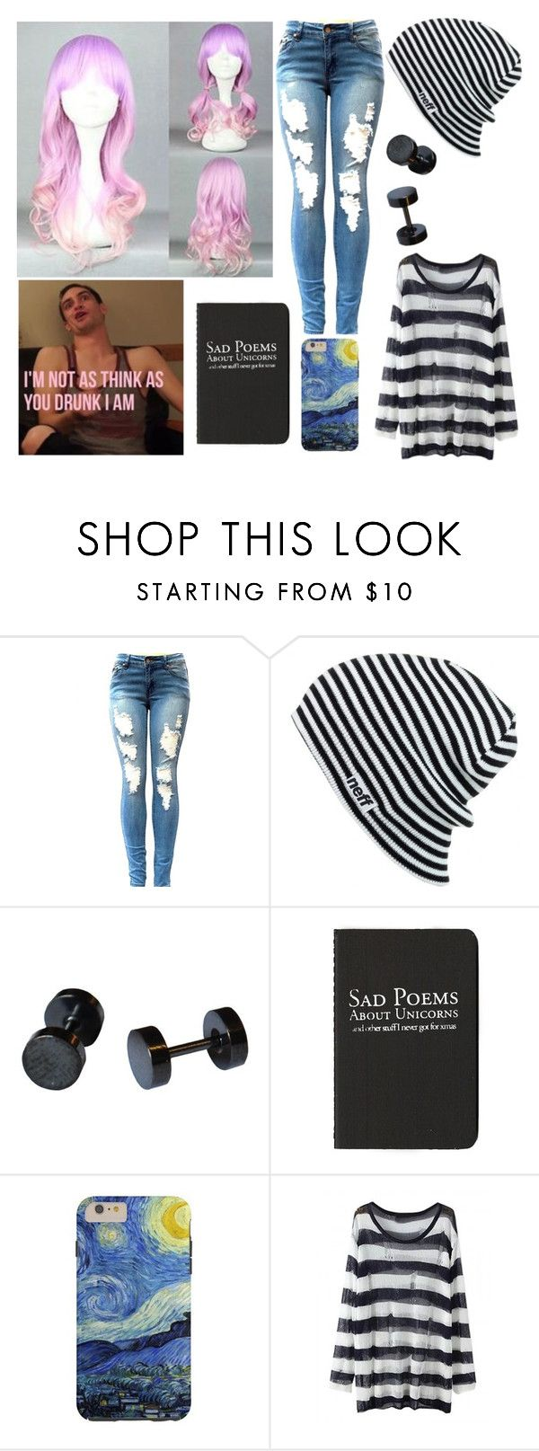 """""""Untitled #2471"""" by frerardforever ❤ liked on Polyvore featuring Neff and Moleskine"""