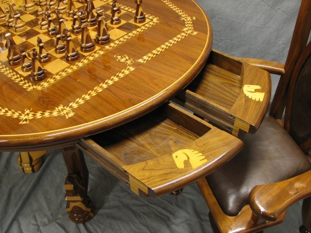 Chess Table And Chair Set Award Winning