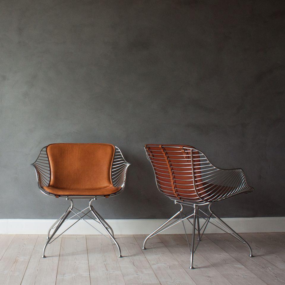 Wire lounge chair by overgaard dyrman www oandd dk custom furniture