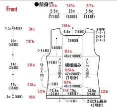 How to calculate your design.  I found this chart very useful for my knitting work.