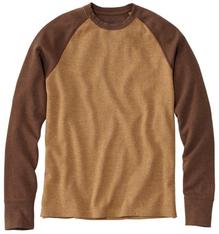 568df76ec17 L.L. Bean L.L.Bean Men s Washed Cotton Double-Knit Crewneck ...