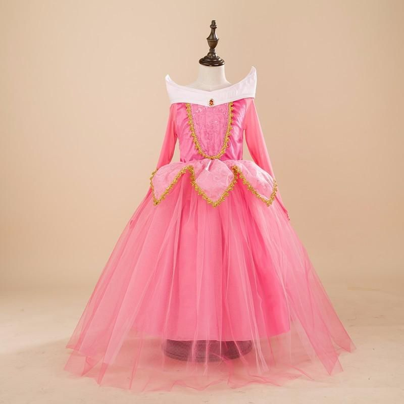6deb97f6c1667 Kids Girls Costumes Carnival Halloween Princess Aurora Dress Fairy ...