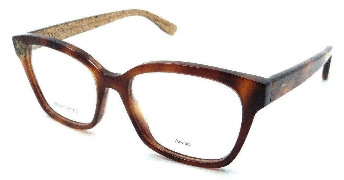 afcdb8c6e687 Jimmy Choo Rx Eyeglasses Frames JC 150 Q9W 52-17-140 Havana Beige Glitter  Italy