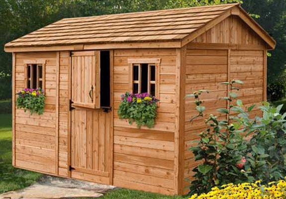 Cabana 12 Ft W X 8 Ft D Wood Storage Shed Building A Shed Shed Storage Wooden Sheds