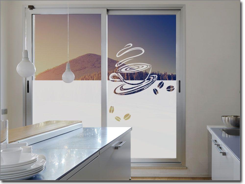 Glasdekor Folie Kaffeetasse Fensterfolie für Küche Pinterest - folie für küchenfront