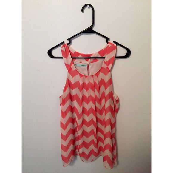 pink chevron tank top like new. Maurices Tops Tank Tops