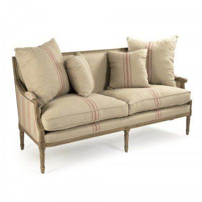 French Louis Red Striped Sofa Furniture In 2019 French