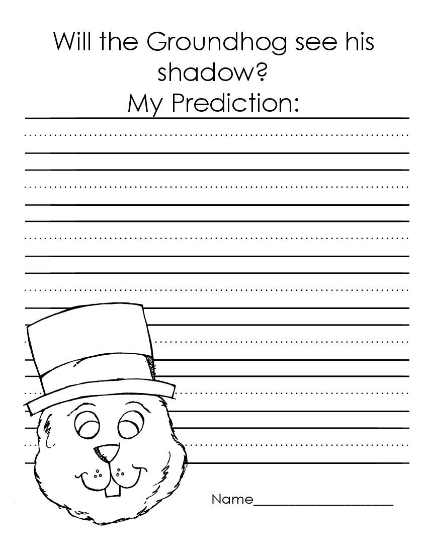 Worksheets Groundhog Day Worksheets the art of teaching a kindergarten blog groundhog day worksheets worksheets