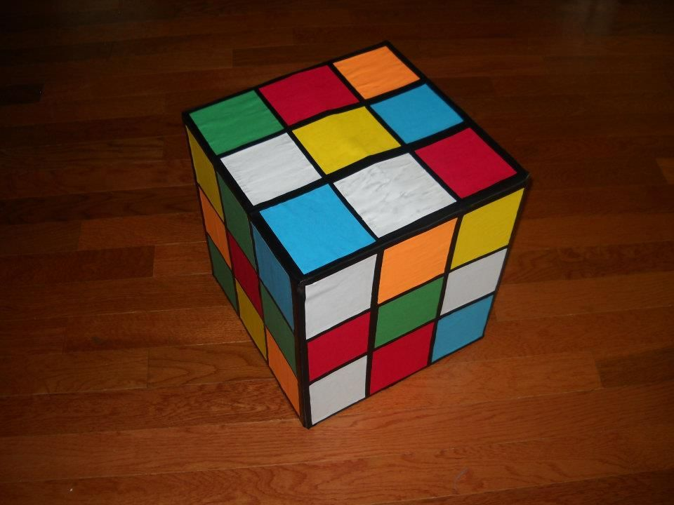Giant Rubik S Cube Decoration I Made For Our 80s Party Out Of A