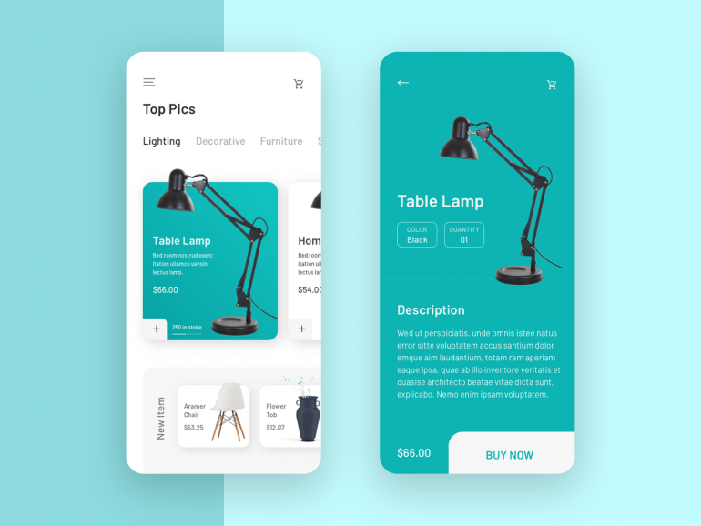 Product App Interface on Inspirationde #userinterface