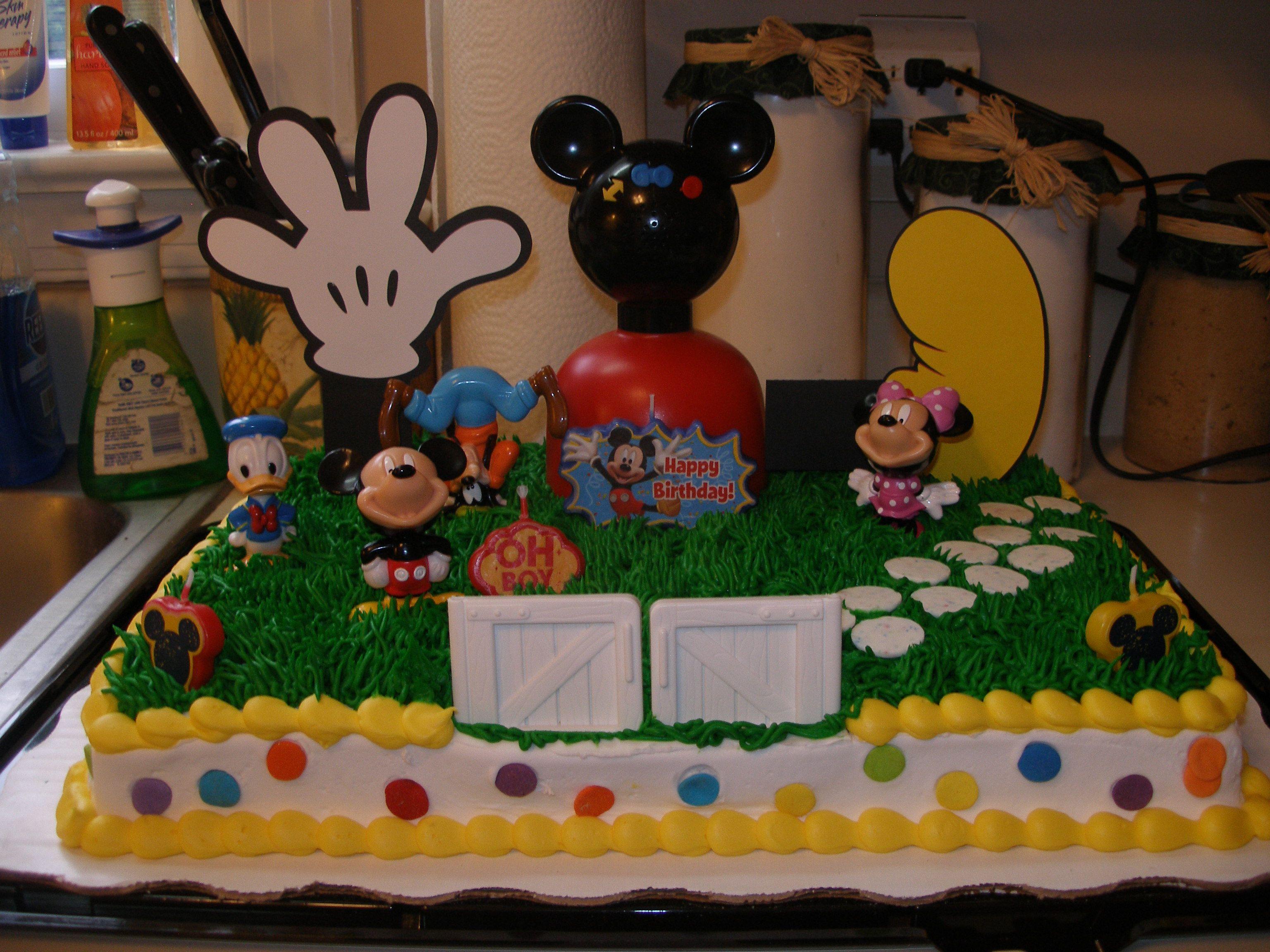 Mickey Mouse Clubhouse Cake Avyans 1st Bday Ideas Pinterest