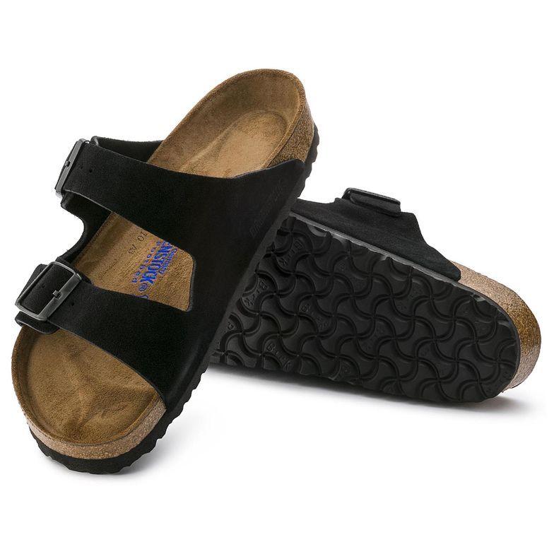 birkenstock arizona suede leather black