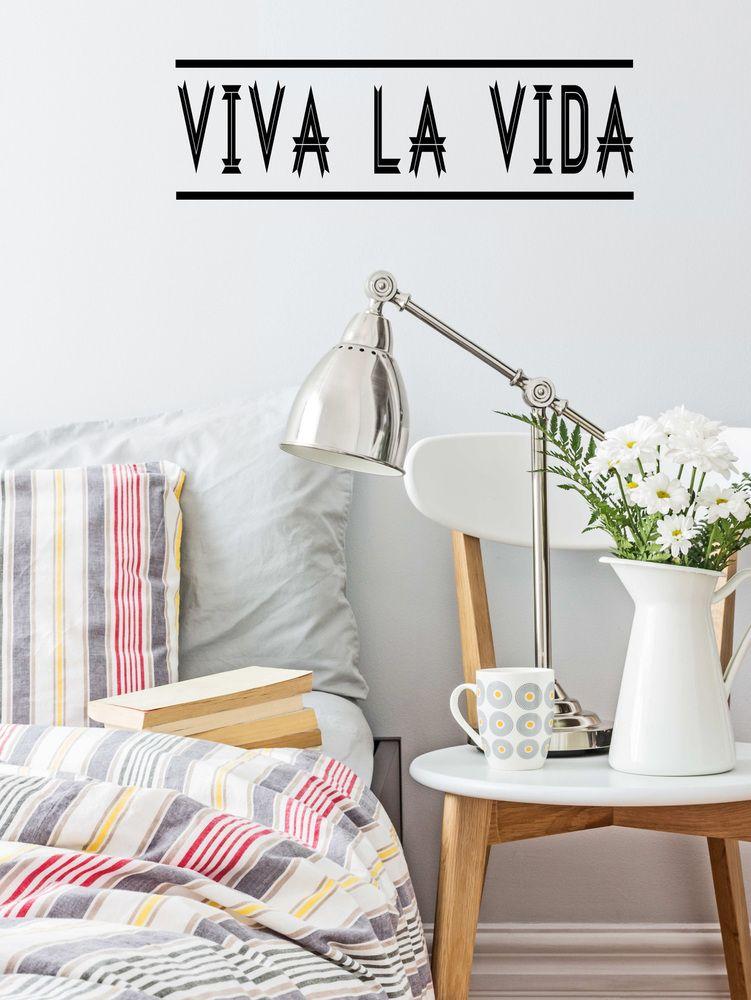 Vinilo decorativo  viva la vida  Wall decal sticker vinyl  Vida la vida