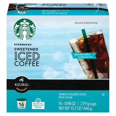 graphic relating to Starbucks K Cups Printable Coupons known as Starbucks Sweetened Iced Espresso K-Cups Business Pinterest