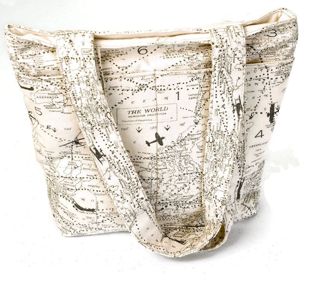 Travel tote bag world map tote cotton tote bag aviation map travel tote bag world map tote cotton tote bag aviation map tote airplane tote bag gumiabroncs Images