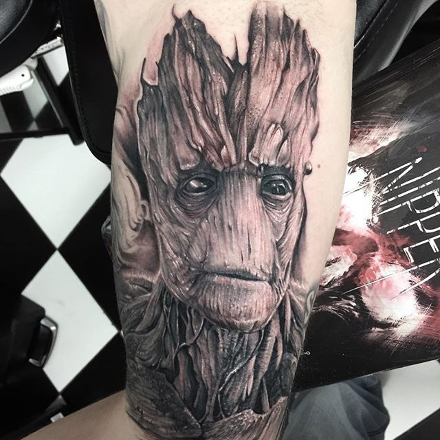 dnipper 39 s photo this is groot fun times inside of arm powerlinetattoosupplies tats. Black Bedroom Furniture Sets. Home Design Ideas