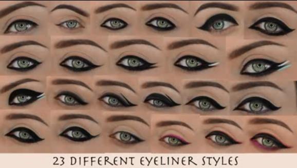 Different Eyeliner Styles Tumblr