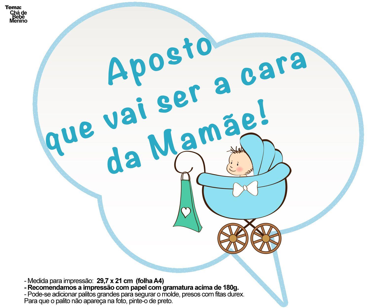 Populares Plaquinhas Divertidas Chá de Bebê Menino 7 | Chás de bebê menina  BX74