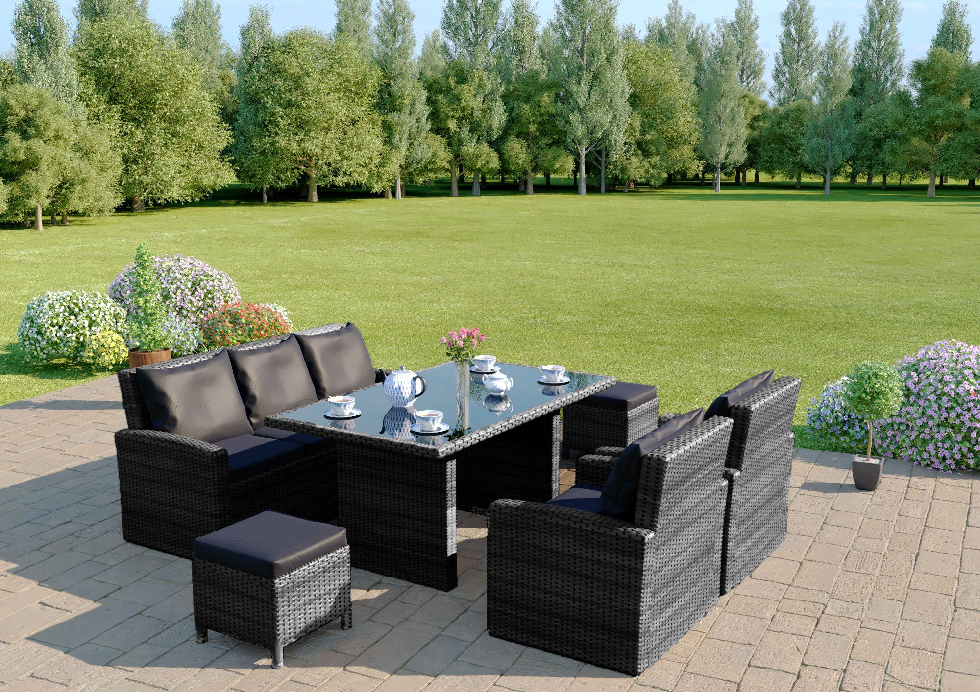 Pin by Abreo Rattan Garden Furniture on Grey Rattan Garden