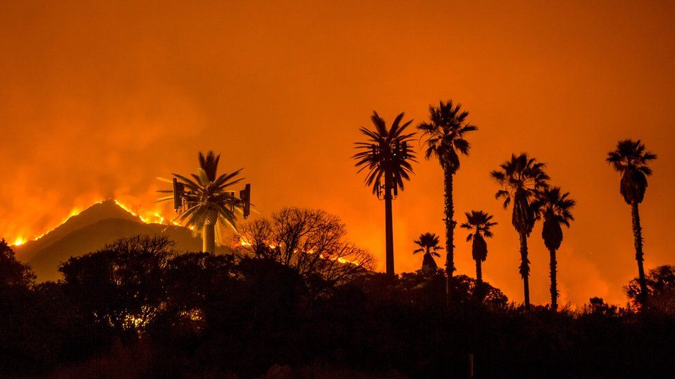 California wildfires governor brands fires new normal