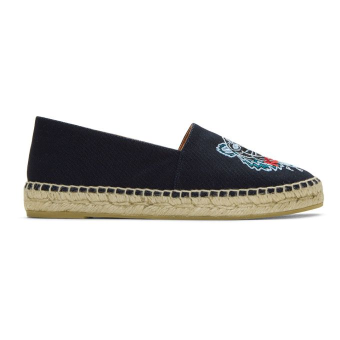 Kenzo Navy Canvas Classic Tiger Espadrilles outlet pay with paypal zX2hy
