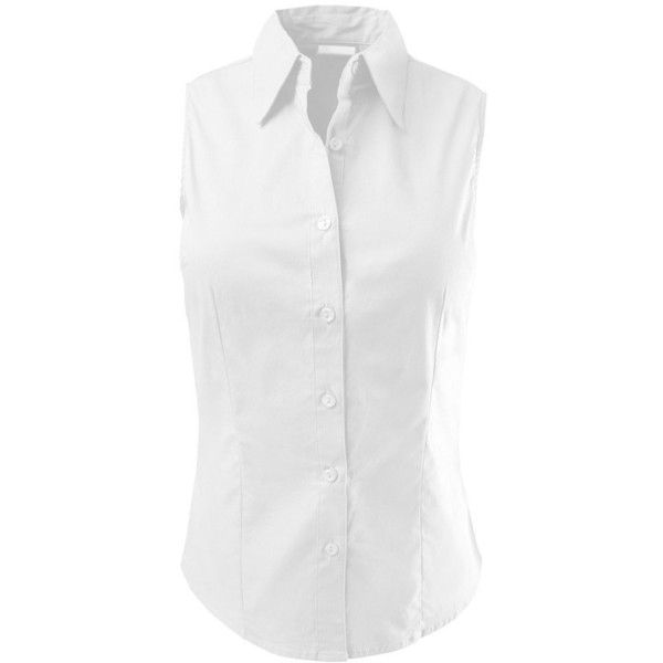 LE3NO Womens Lightweight Cotton Sleeveless Button Down Shirt ($18 ...