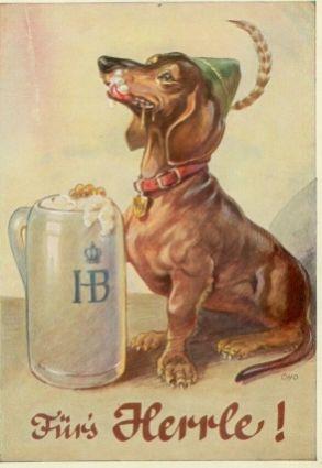 German Postcard Vintage Dachshund Dachshund Art Vintage Dog