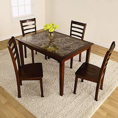 Essential Home Jackson 5 Pcfaux Marble Dining Set 2 Kmart Glamorous Kmart Kitchen Chairs Design Inspiration