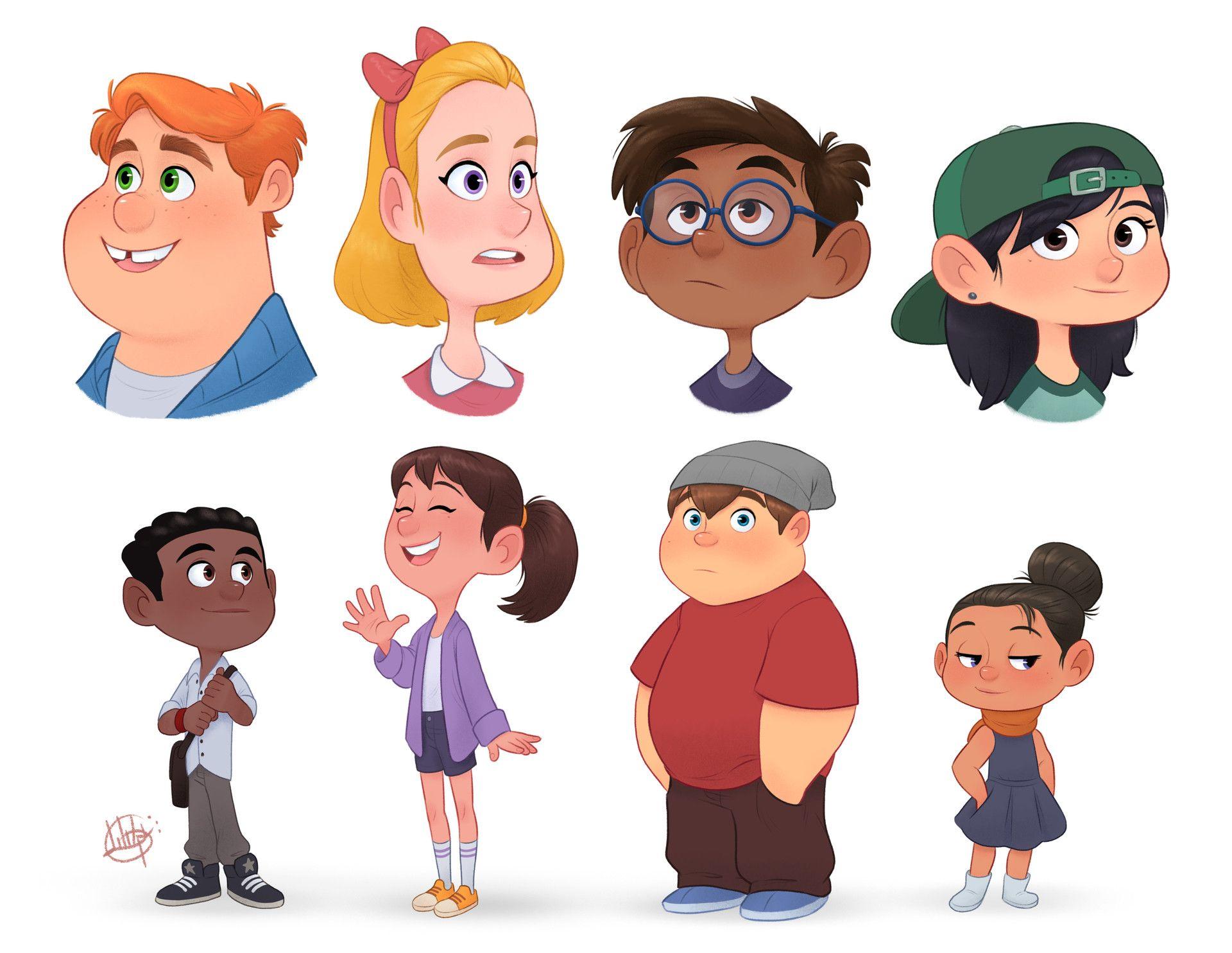 ArtStation - Random Characters 4, Luigi Lucarelli | cartoon