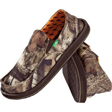 22312732ec249 He had a pair of Sanuk's already and they are the most comfy things ever.  Camo makes them even better!