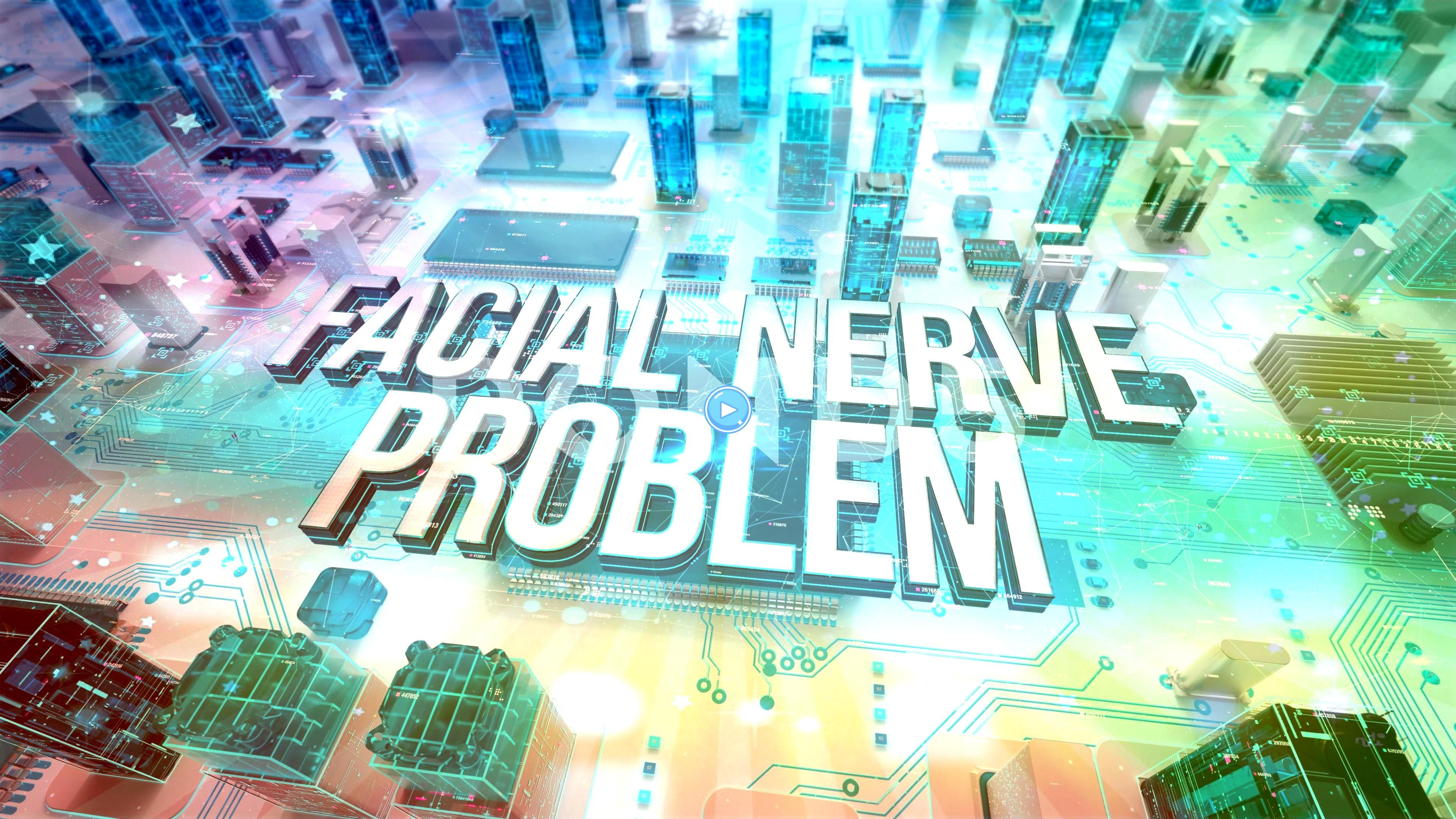 Nerve Problem with medical digital technology concept Stock Footage ProblemmedicalFacialNerveFacial Nerve Problem with medical digital technology concept Stock Footage Pr...