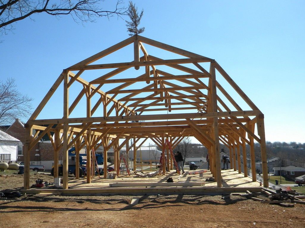Midwest custom timber frames listed in barn construction for Post and beam shed plans